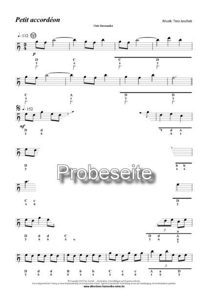 """""""Petit accordèon""""  Probeseite"""