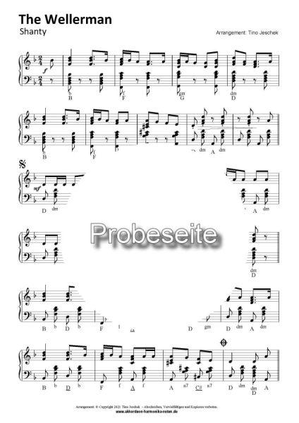 The Wellerman- Akkordeon Noten sheet music partition bladmuziek