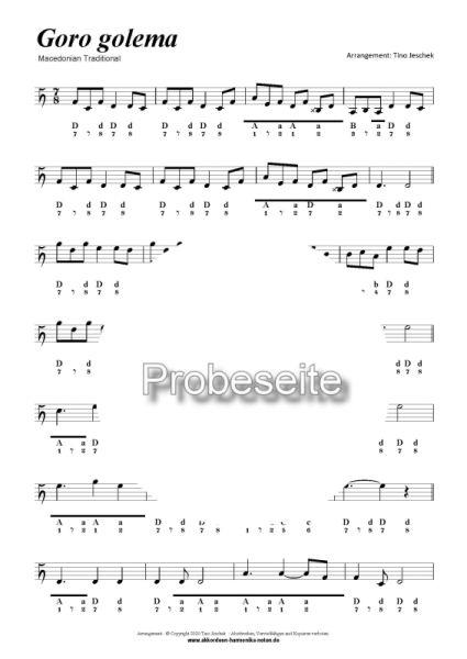 Goro golema - Tino Jeschek - Club-Harmonika