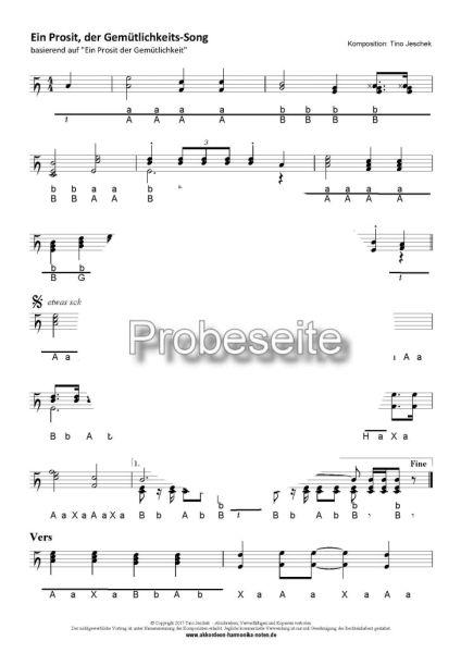 """""""Ein Prosit, der Gemütlichkeits-Song"""" - Probeseite"""